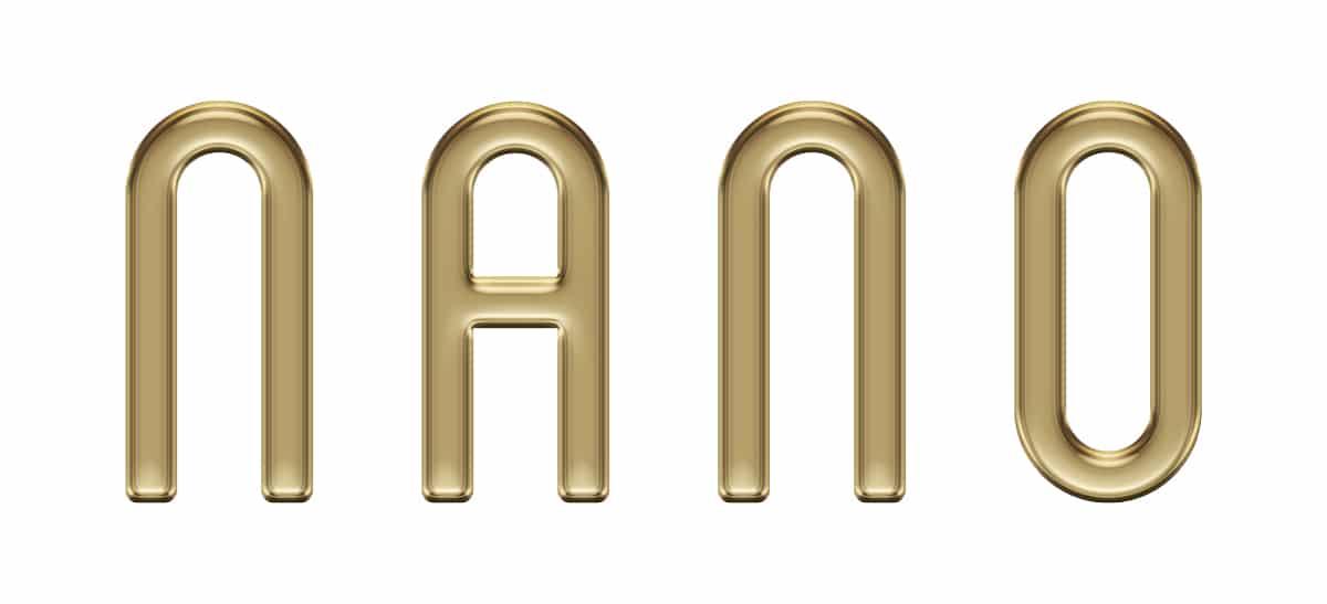 Nano Logo Gold 3D