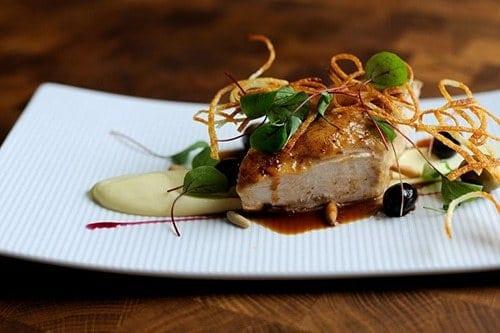 Roast chicken, potato and parsnip puree