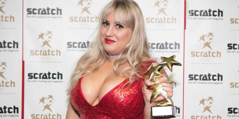 Stephanie Staunton with her Scratch Stars Award narrow