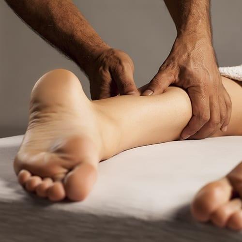 leg massage, squeezing techniques